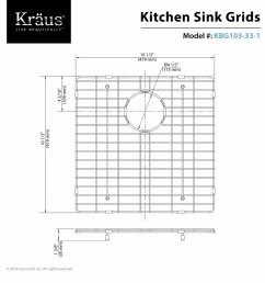 kraus kbg 103 33 1 stainless steel left bowl stainless steel bottom grid for kraus khu 103 33 1 kitchen sink faucet com [ 1200 x 1200 Pixel ]