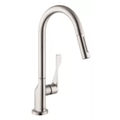 Axor Kitchen Faucet Modern Table Lighting Hansgrohe Faucets At Faucetdirect Com Citterio Higharc Pull Down With Magnetic Docking Metal Spray Head And Forward Rotating 39835