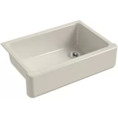 Kohler Cast Iron Kitchen Sink Movable Islands Sinks At Faucet Com Whitehaven 33 Single Basin Apron Front Under Mount With