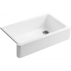 Single Bowl Cast Iron Kitchen Sink Kmart Apron Front And Farm Style Sinks Whitehaven 36 Basin Undermount Enameled With Self Trimming