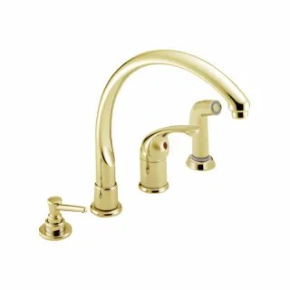 delta undefined polished brass faucet