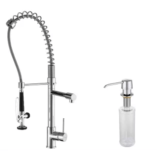 https www faucetdirect com kraus kpf 1602 ksd 30 commercial style pot filler kitchen faucet with pre rinse spray and soap dispenser p1755953