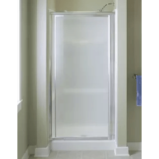 Sterling 1530D42S Silver Vista Pivot II 69 High x 42 Wide Framed Shower Door with Pattern
