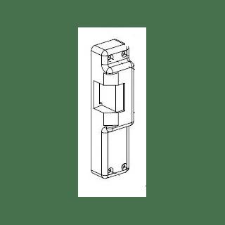 Von Duprin 9687164 Satin Brass Faceplate for 6211WF