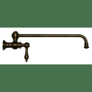Whitehaus Whkpfslv3 9000 Aco Antique Copper Vintage Iii Wall Mount Pot Filler With Lever Handle Faucet Com