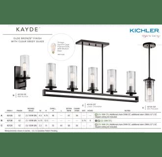 Kichler 42124OZ Olde Bronze Kayde 5 Light 40