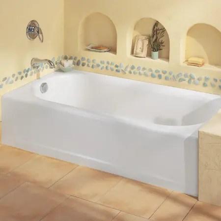 American Standard 2393202ICHTC021 Bone Princeton 60 Americast Soaking Bathtub With Right Hand