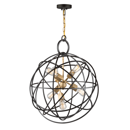 Artcraft Lighting AC10956 Oil Rubbed Bronze Orbit 6 Light