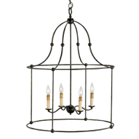 """Currey and Company 9160 Mayfair Fitzjames 33""""H 4 Light"""