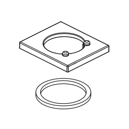 Delta RP63347 Chrome Vero Replacement Flange and Gasket