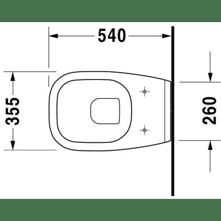 Duravit 22090900642 White D-Code 1.2 GPF Elongated Wall