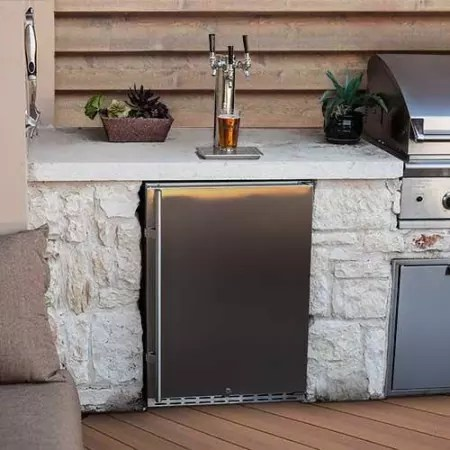 EdgeStar Full Size Triple Tap Built-In Outdoor Kegerator - KC7000SSODTRIP