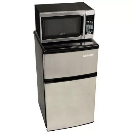 microwave fridge combo stainless
