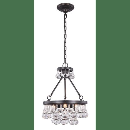 Elegant Lighting 1509D15BZ/rc Bronze Bettina 3 Light 15