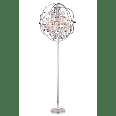Elegant Lighting 1130FL24PN/RC Polished Nickel Geneva 24