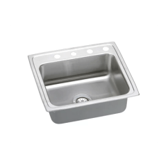 Elkay Kitchen Sinks Professional Knives Psr22191 1 Faucet Hole Pacemaker 22 Single Basin 20 Gauge A Large Image Of The Psr2219