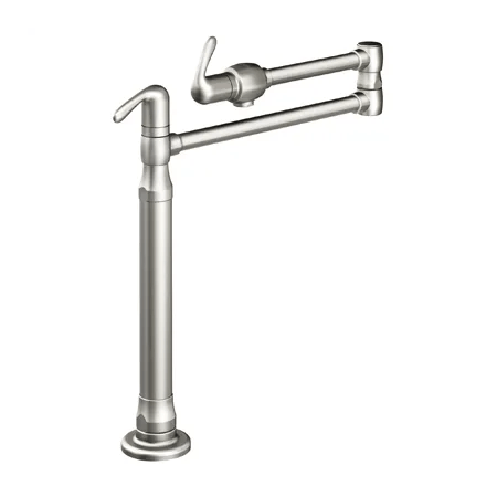 Grohe 31076SD0 Stainless Steel Ladylux 3 Pot Filler Deck