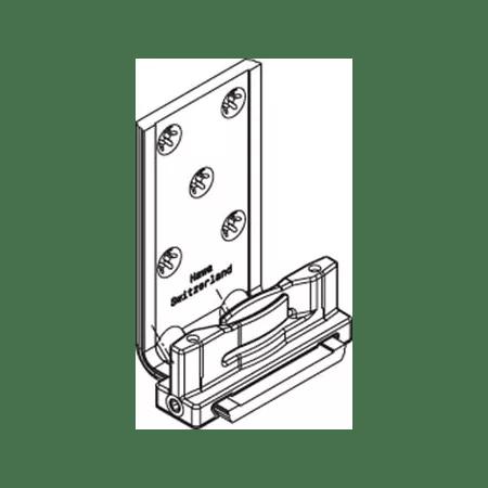 Hafele 940.40.070 N/A HAWA Floor Guide for Multi-Door
