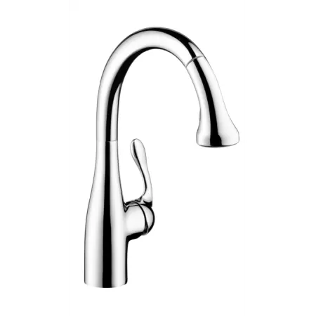 kitchen faucet spout cabinet organizers for pots and pans hansgrohe 04066000 chrome allegro e pull down gourmet a large image of the 04066
