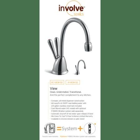 InSinkErator H-View-SSC Chrome Instant Hot Water Dispenser