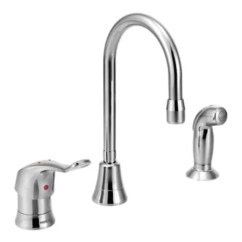 Commercial Kitchen Faucet Cotton Yarn Moen 8138 Chrome Includes Side Spray A Large Image Of The