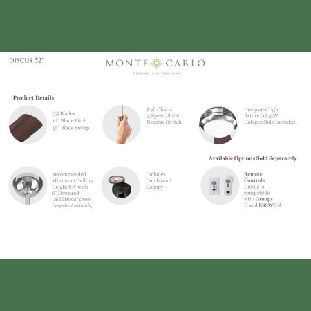 Monte Carlo 5DI52RBD-L Roman Bronze Five Bladed 52 Inch