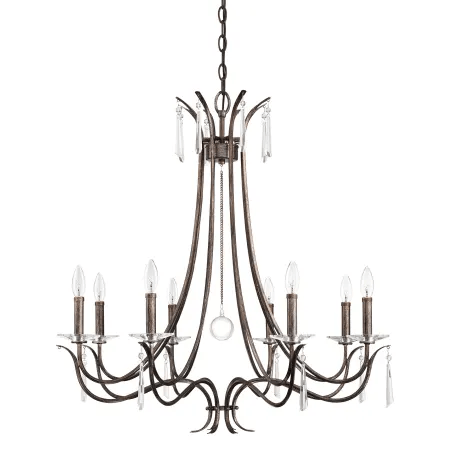 Park Harbor PHHL6258MH Mahogany 8 Light 32