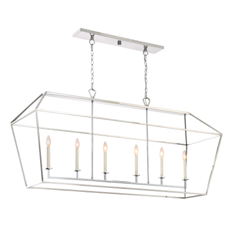 Quoizel AVY654PK Polished Nickel Aviary 6 Light 54