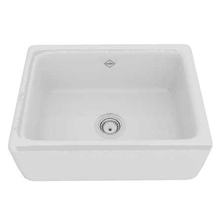rohl kitchen sinks designs with island rc2418wh white shaws 24 farmhouse single basin fireclay a large image of the rc2418