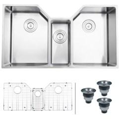 3 Basin Kitchen Sink Outdoor Kitchens Naples Ruvati Rvh8500 Stainless Steel Gravena 35 Undermount Triple A Large Image Of The