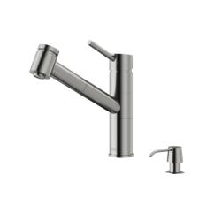 Vigo Kitchen Faucet Shirts Vg02021stk2 Stainless Steel Branson 1 8 Gpm Swivel A Large Image Of The Vg02021k2