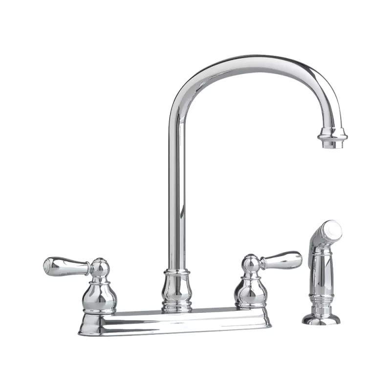 american standard kitchen faucet portable islands for kitchens 4771 732 002 chrome hampton with side spray and cover plate com
