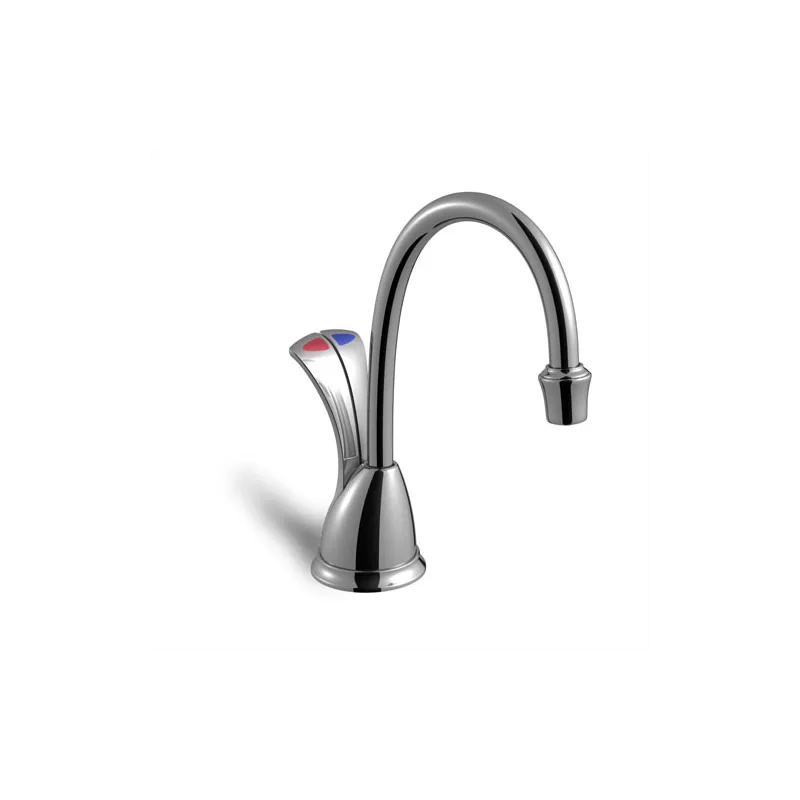 hc kitchen faucet italian themed curtains insinkerator wavec ss chrome instant hot water dispenser double handle and cold with 3 year in home warranty tank included faucetdirect com