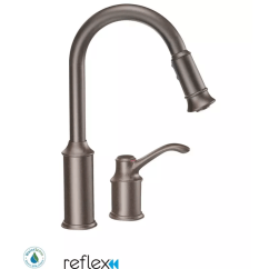 Moen Faucet Kitchen Ada Cabinets 7590orb Oil Rubbed Bronze Single Handle Pulldown Spray With Reflex Technology From The Aberdeen Collection Com