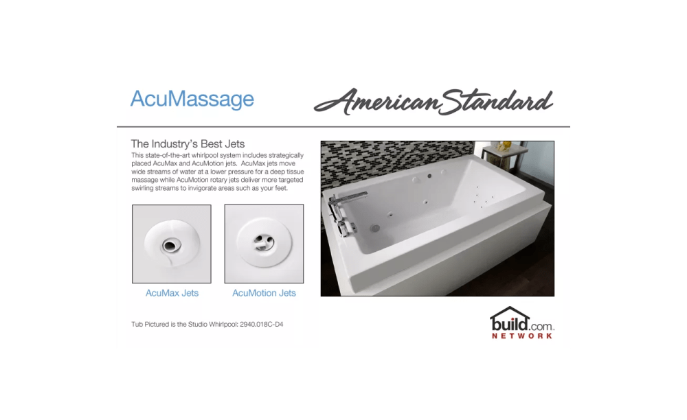 medium resolution of american standard 2770 018w 020 white cadet 59 7 8 acrylic whirlpool