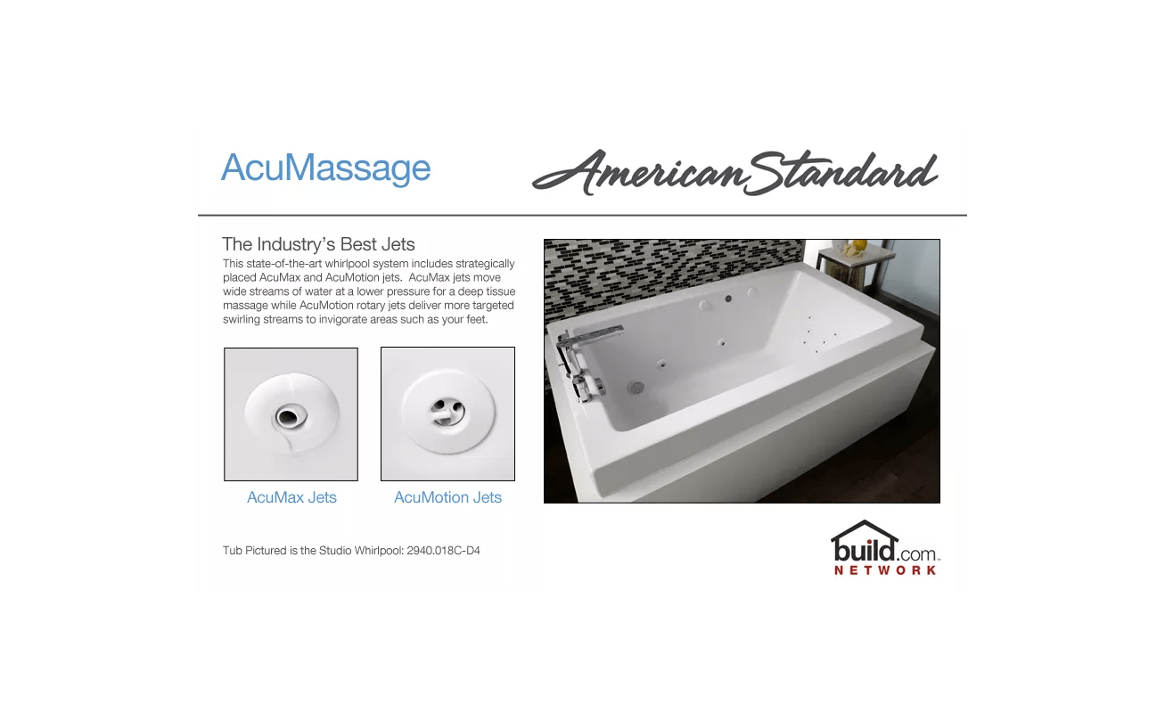 hight resolution of american standard 2770 018w 020 white cadet 59 7 8 acrylic whirlpool