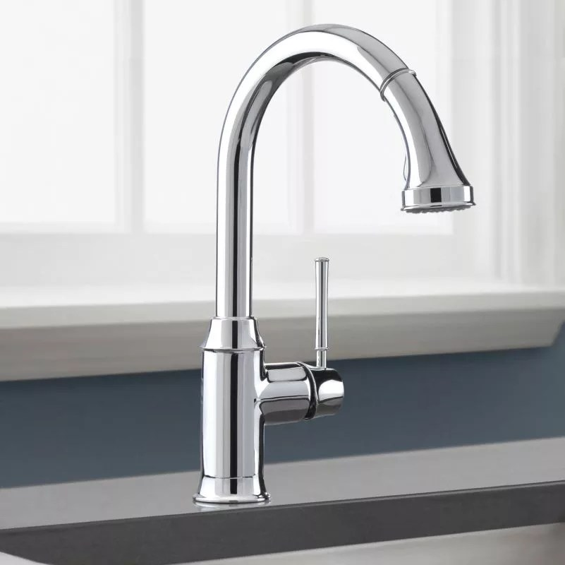 hansgrohe kitchen faucet glass backsplashes for kitchens 04215000 chrome talis c high arc pull down with magnetic docking spray head and locking diverter limited lifetime warranty