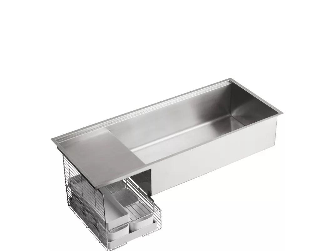 kohler kitchen sink accessories cabinet design tool k 3761 na stainless steel stages 45 single basin under mount 16 gauge with silentshield faucet com