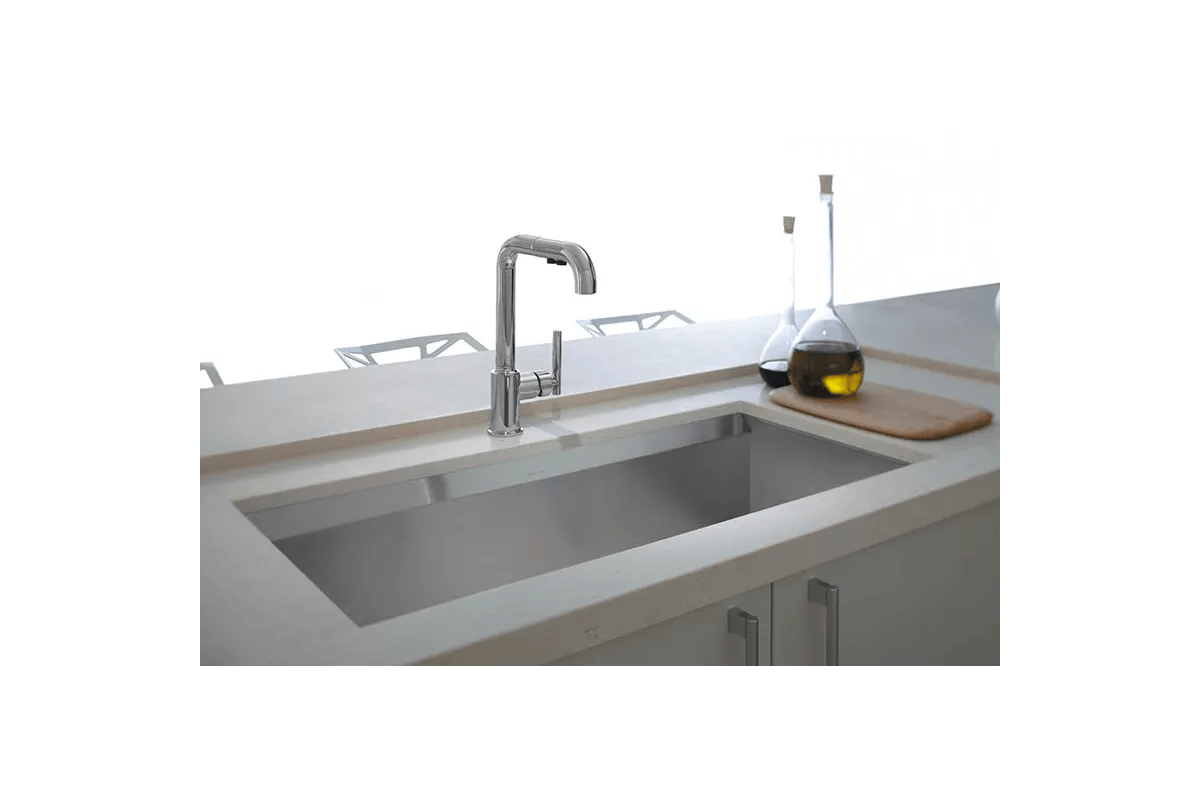 kohler purist kitchen faucet appliance colors k 7505 cp polished chrome 1 5 gpm single handle pullout spray with promotion technology com