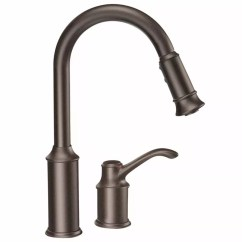Kitchen Pull Down Faucet Cherry Cart Moen 7590orb Oil Rubbed Bronze Single Handle Pulldown Spray With Reflex Technology From The Aberdeen Collection Com