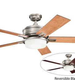 kichler 300140ap antique pewter 52 indoor ceiling fan with 5 blades includes cool touch remote light kit and 4 downrod lightingdirect com [ 1200 x 800 Pixel ]