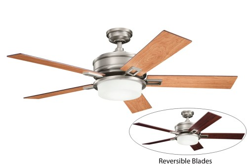 small resolution of kichler 300140ap antique pewter 52 indoor ceiling fan with 5 blades includes cool touch remote light kit and 4 downrod lightingdirect com