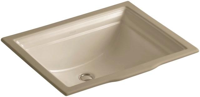 "Kohler K 2339 47 Almond Memoirs 18 1 4"" Undermount Bathroom Sink"