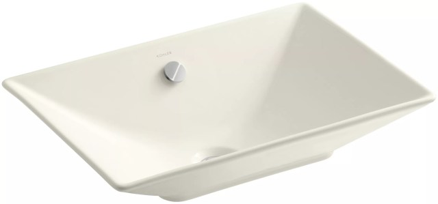 "Kohler K 4819 0 White Reve 21 5 8"" Fireclay Vessel Sink with"