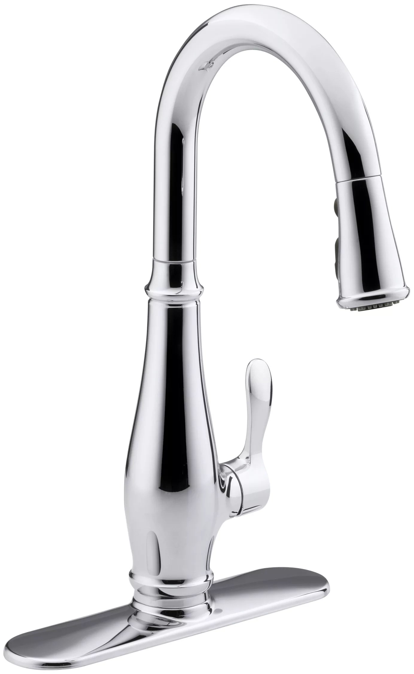3 hole kitchen faucets wall mounted faucet with sprayer kohler k 780 cp polished chrome cruette single or three sink