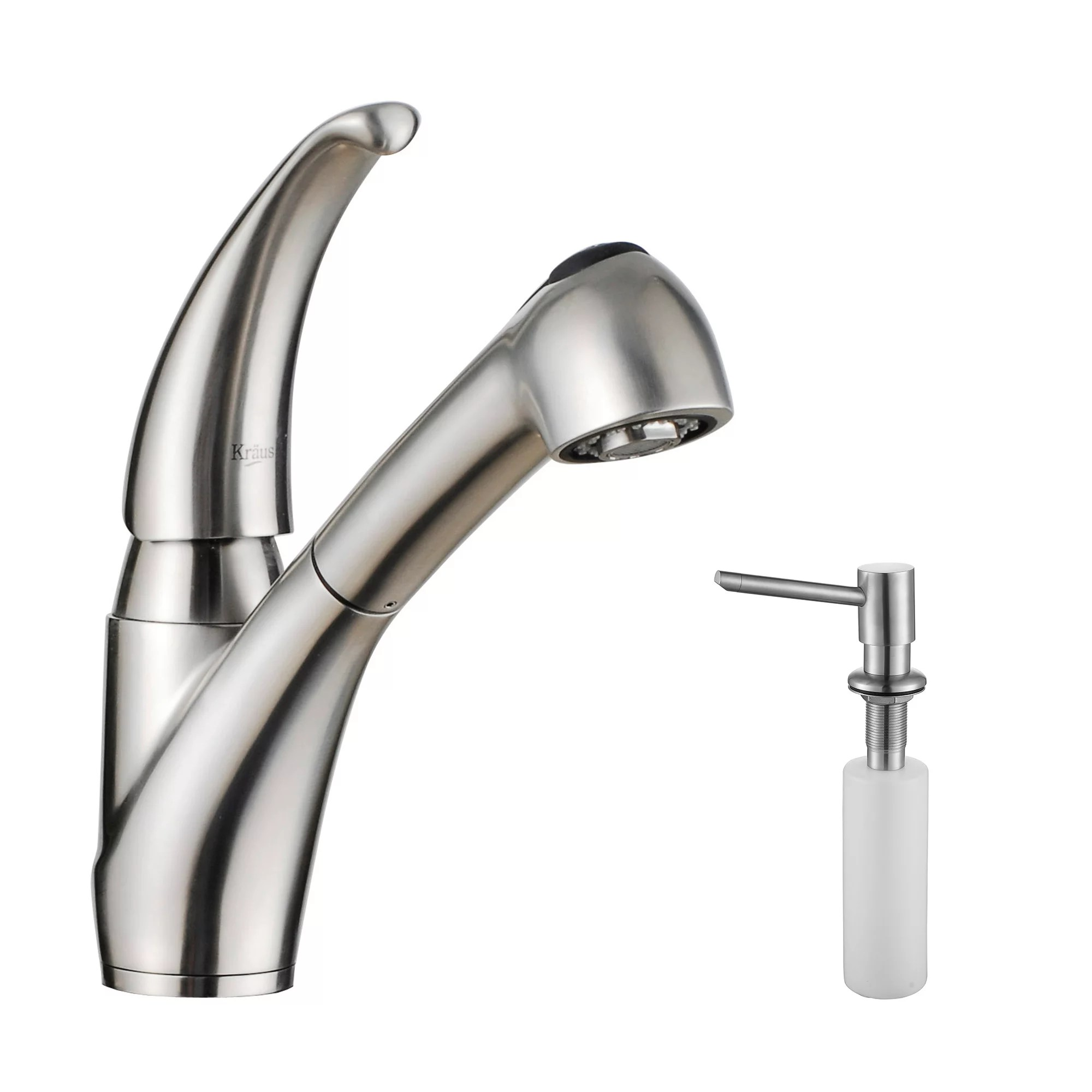 kraus kitchen faucet personalized signs kpf 2110 sd20 stainless steel pullout spray with soap dispenser com