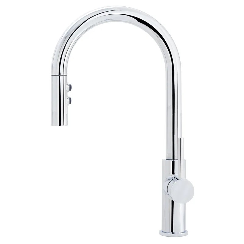 stainless kitchen faucet mini pendants for miseno mno191ss steel gemma pull down with multi flow spray head includes optional deck plate com