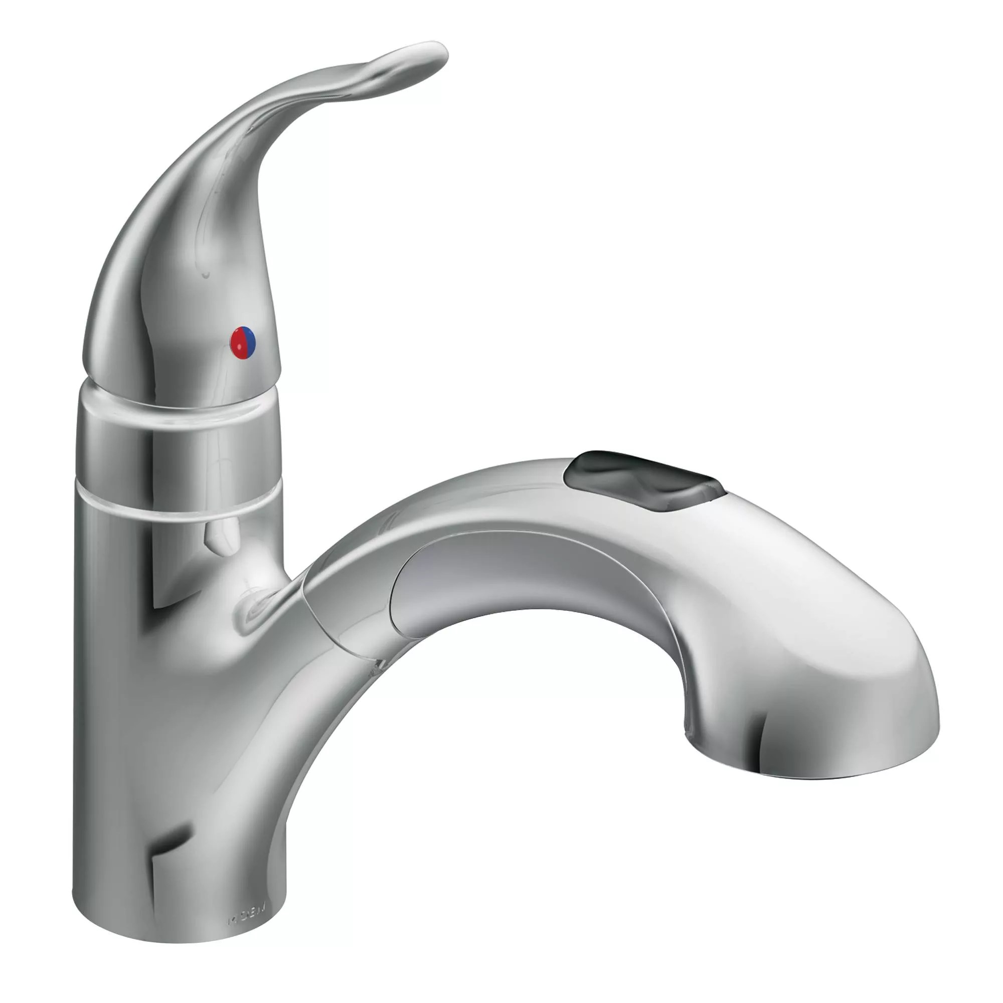 pull out spray kitchen faucet microwave moen 67315c chrome pullout from the integra