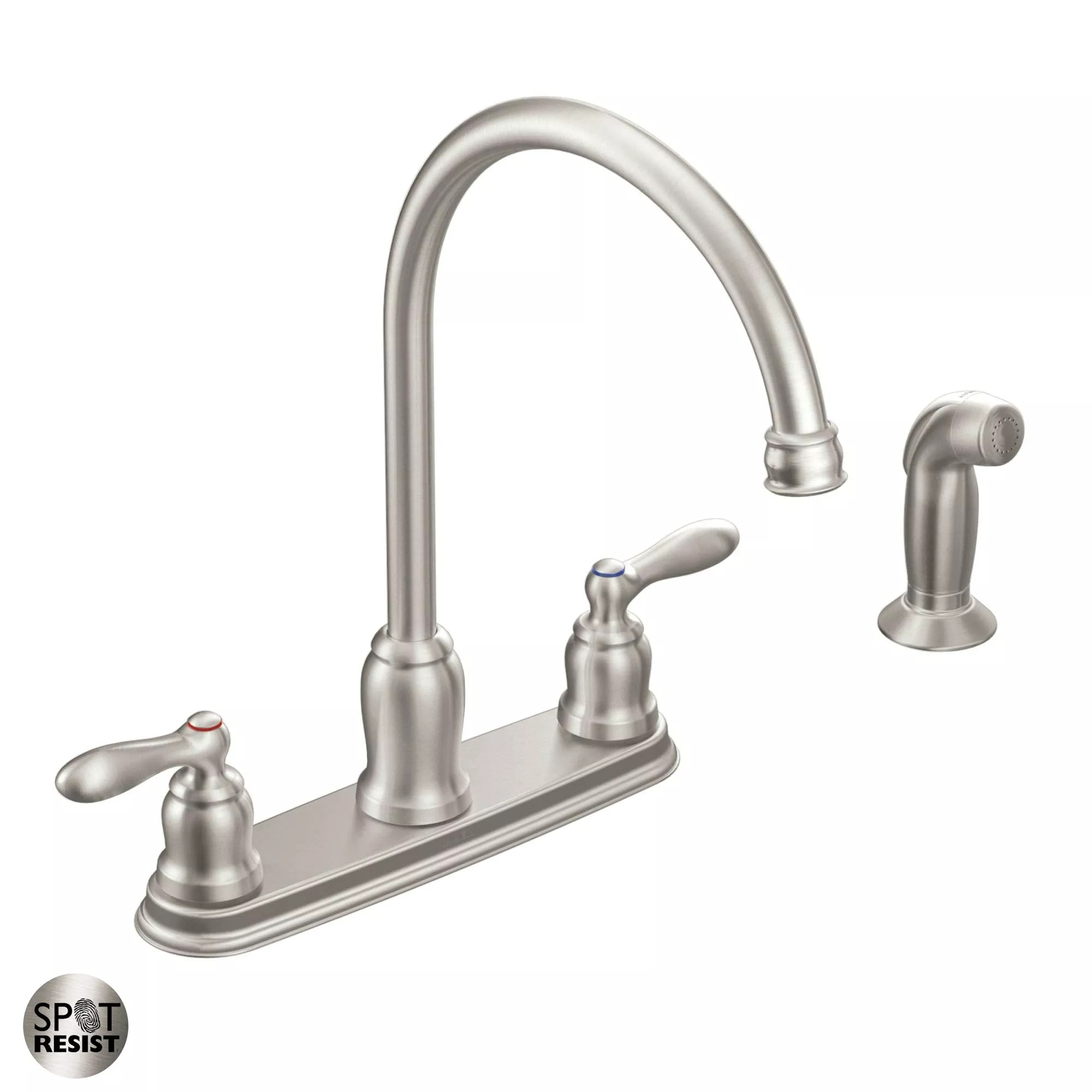 moen faucet kitchen farm table ca87060srs spot resist stainless high arc with