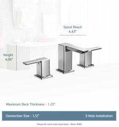 moen ts6720 chrome double handle widespread bathroom faucet from the 90 degree collection faucet com [ 2000 x 2000 Pixel ]